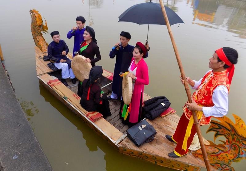 hát quan họ trên thuyền