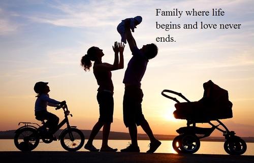 các câu nói tiếng anh hay về gia đình